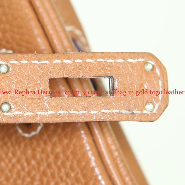 e148eb6ae2d Best Replica Hermes Birkin 30 cm handbag in gold togo leather ...