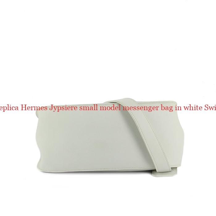 a5806851b66c Perfect Replica Hermes Jypsiere small model messenger bag in white Swift  leather