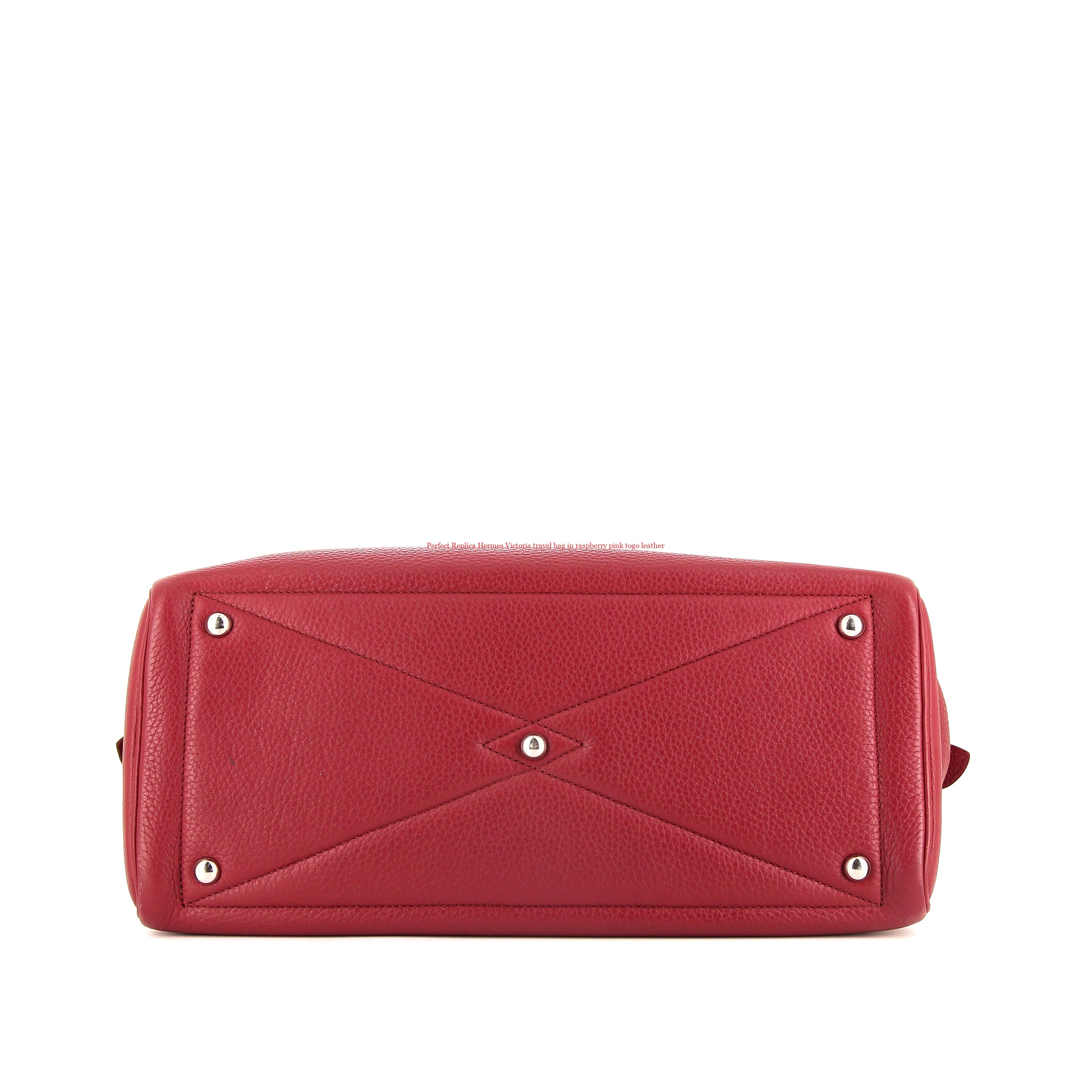 c4baf52563dd Perfect Replica Hermes Victoria travel bag in raspberry pink togo leather – Hermes  Replica Purse Valley CN Handbags Reviews