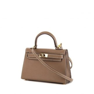 84cbb5563ea5 UK Replica Hermes Kelly 20 cm small model handbag in etoupe epsom leather